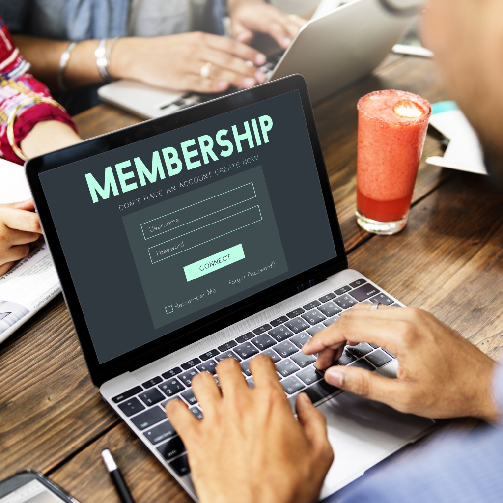 person signing up for a membership